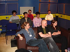 Students, visitors and researchers at the Centre for Digital Music